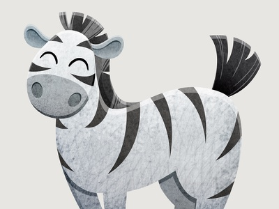 Zebra animal art childbook child zebra animal book print watercolor art design illustrator character illustration