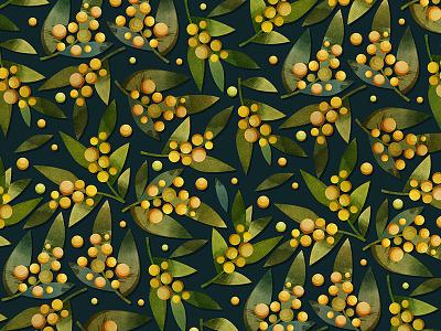 Pattern fabric texture textile botanical flower plant pattern print design watercolor art illustrator illustration