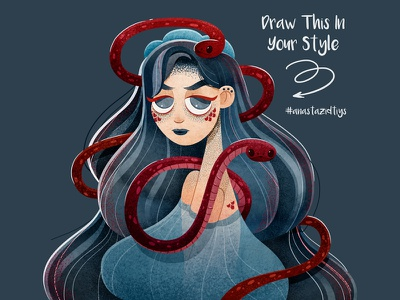 Draw This In Your Style print girl drawthisinyourstyle dtiys book person character art watercolor illustrator illustration
