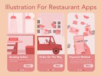 Restaurant Apps Illustration.