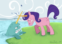 Unicorn Narwhal Fight!