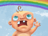 Ugly Baby Finds A Rainbow