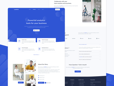 Saas & Software - Landrick coworking app and saas software agency marketing landing page enterprise bootstrap design business branding