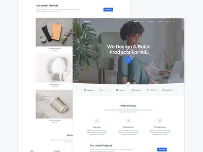 Starty - Minimal Portfolio landing saas software agency business bootstrap marketing branding design work projects personal portfolio minimal