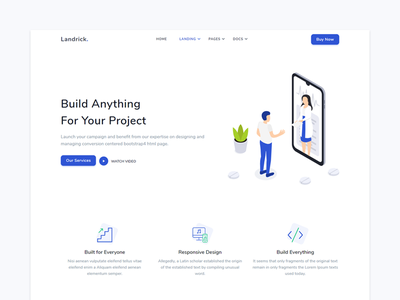 Service - Landrick creative branding design service software personal payment marketing job and careers hosting event enterprise cryptocurrency coworking business bootstrap app and saas agency