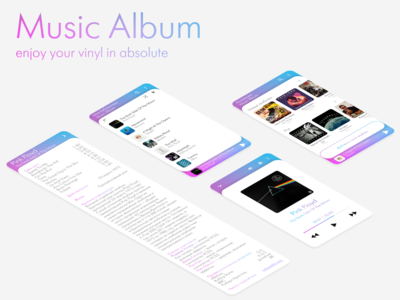 Music Album. Part 2. Light theme