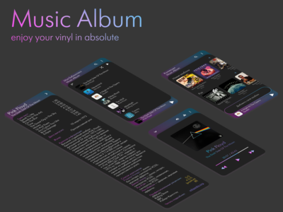 Music Album. Part 2. Dark theme