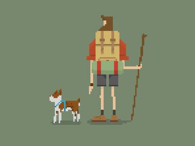 Pixel Hike pixel dog black abyss of unkown origin lake texas pixel hike