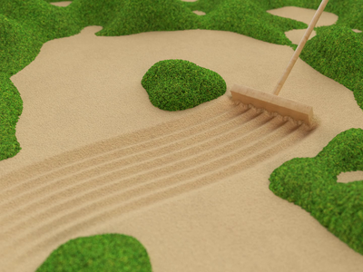 Zen Garden animation render redshift cinema4d motiondesign mograph motiongraphics 3d zen zengarden