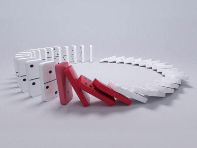 Domino Effect motiondesign motiongraphics loop render redshift mograph cinema4d 3d animation