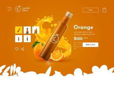 Lustful Olive ui app typography vector branding logo illustration web ux design