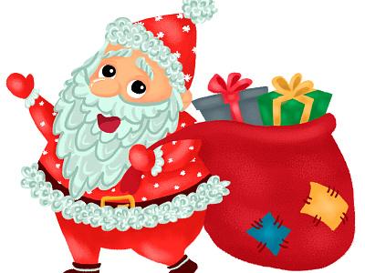 character santa branding illustrator иллюстрация детская character design children childrens illustration character design illustration