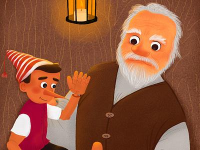pinocchio иллюстрация character детская design книга childrens illustration children childrens book character design illustration