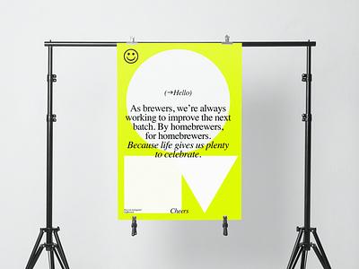 Fff Brewing diseño packaging poster design poster stationery minimalism identity branding design logo typography