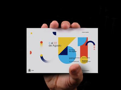 51a. Ciudad De Juguetes  color typography simple bauhaus minimal identity design logo branding