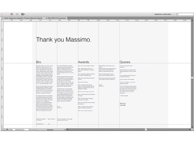 Timeless: Massimo Vignelli identity simple color minimal packaging pack logo brand branding