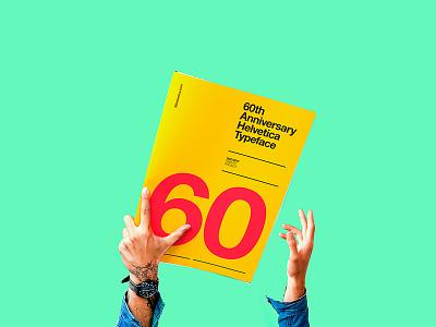 Helvetica 60th Anniversary logo branding swiss type poster diseño helvetica design typography