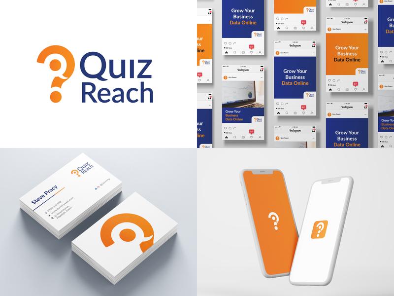 Quiz Reach Brand Identity identity branding branding design branding concept branding and identity branding logodesign