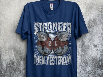 Gym T-shirt Stronger then yesterday