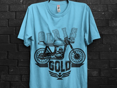 old is gold bike t shirt
