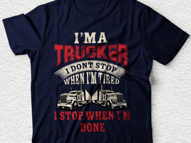Truck driver tshirt design tshirt