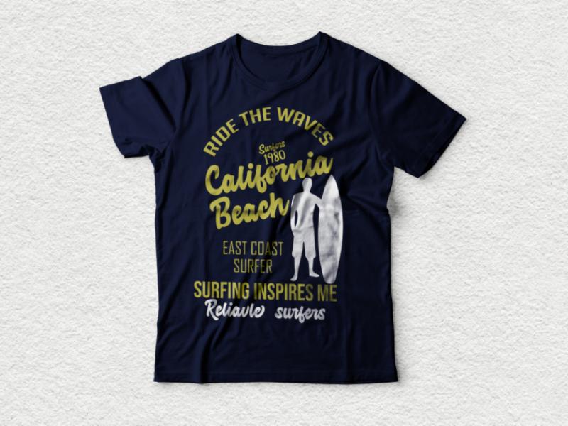California beach tshirt design etsyseller etsy shop etsy custom fashion march by amazon typography shirts t-shirts apperal design graphicsdesign funny tshirt