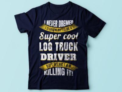 Truck driver tshirt design