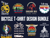 Bicycle t shirt design bundle