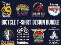 Bicycle t shirt design bundle