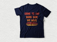 come to the dark side we have surfing boards tshirt design