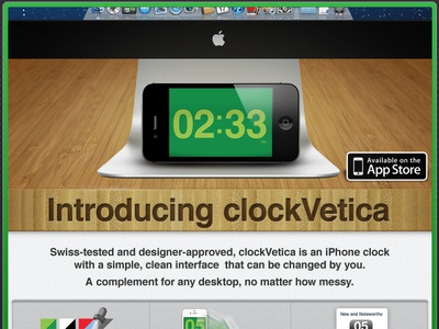 Clockvetica Glamour clockvetica ios-app iphone helvetica