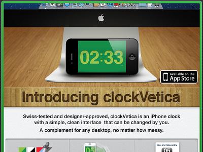 Clockvetica Glamour clockvetica ios-app iphone helvetica