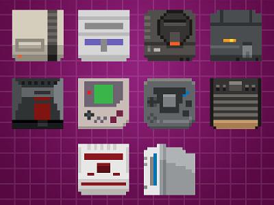 Powerup System Icons snes nes genesis gameboy atari powerup ios icons