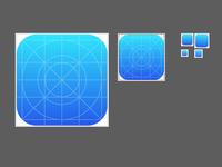 iOS 7 icon template illustrator