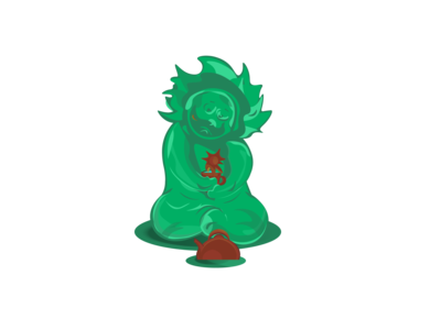 green_creature in sadness