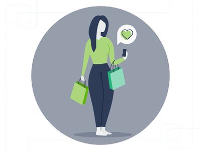 Usermind - Customer Illustration customer experience people shopping illustrator branding people illustration customer vector flat simple illustration design
