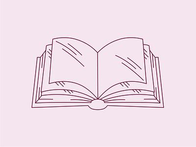 Book Illustration book club design clean illustration linework book vector flat simple