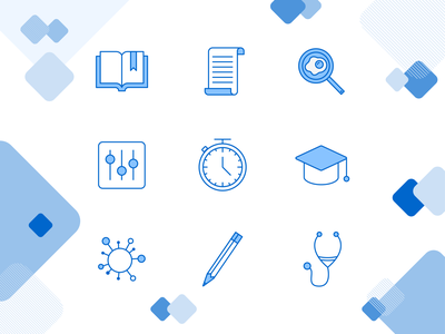 Skilljar Icons iconography illustrator icon design icon vector branding flat simple illustration design