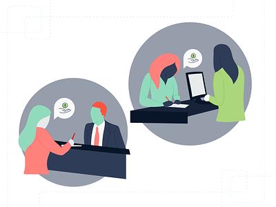 Usermind - Customer Illustration people illustration people customer support customer service customer vector branding flat simple illustration design