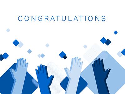 Skilljar Academy Congratulations congratulation congrats congratulations illustrator customer vector branding flat simple illustration design
