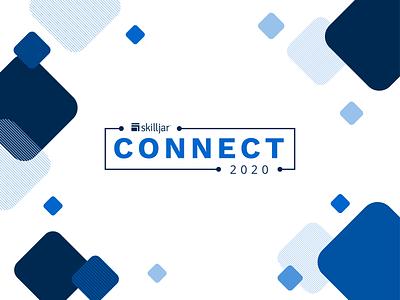 Skilljar - Connect Event Branding virtual event branding event icon illustrator flat illustration customer simple logo vector branding design
