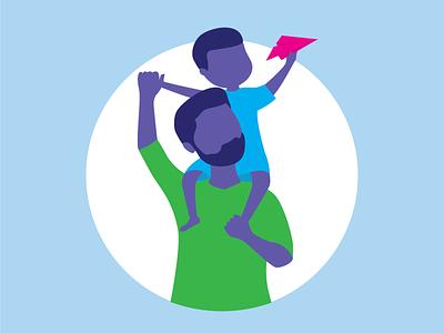 Fathers Day Illustration social media social illustrator customer vector branding flat simple illustration design