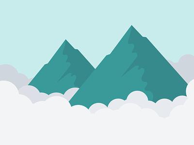 Skilljar Campaign Oct 2020 Illustration campaign mountain mountains illustrator branding vector flat simple illustration design