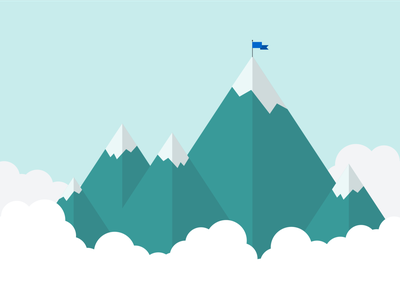 Skilljar Campaign Oct 2020 Illustration mountains mountain illustrator branding vector flat simple illustration design