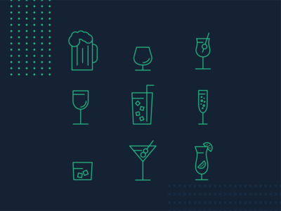 Amperity - Drinks Icon Set