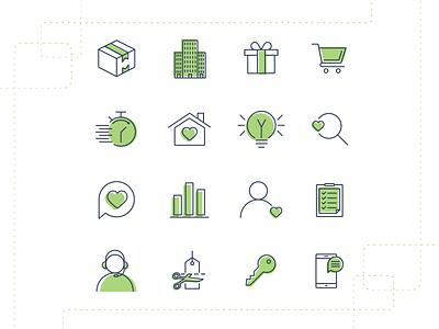 Usermind - Icon Set shadow set icons icon design iconography icon set icon vector flat branding simple illustration design