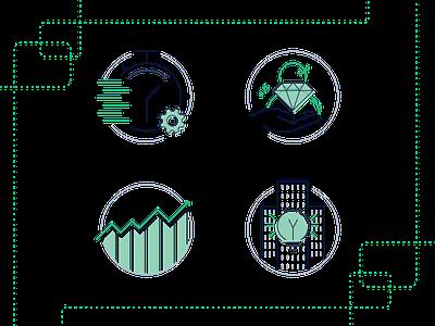 Usermind - Value Icons iconography icon icon design customer vector flat branding simple illustration design