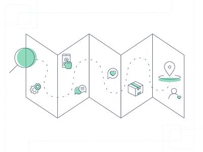 Usermind - Customer Journey Illustration customer experience customer journey journey journey map line customer vector flat branding simple illustration design