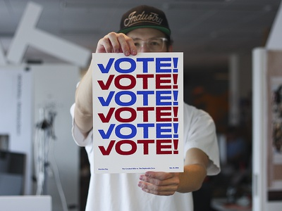 Election Day! stick it to the man vote for prez election day blue white red