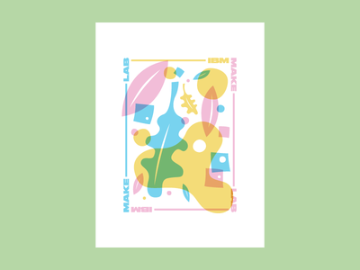 IBM Make Lab × Craft Con illustration make lab craft con overlay leaves